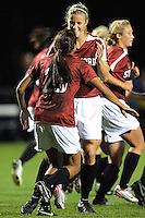 STANFORD, CA - NOVEMBER 14:  Allison Falk of the Stanford Cardinal during Stanford's 2-0 win in the NCAA Women's Soccer first round over the UCSB Gauchos on November 14, 2008 at Laird Q. Cagan Stadium in Stanford, California.