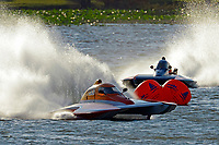 """Doug Martin,S-33 """"Keen's Sunday Money"""" and S-55 Alexis Weber (2.5 Litre Stock hydroplane(s)"""