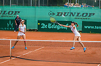 The Hague, Netherlands, 11 June, 2017, Tennis, Play-Offs Competition, woman's doubles, Irina Bara/Buzarnescu, Leimonias<br /> Photo: Henk Koster/tennisimages.com
