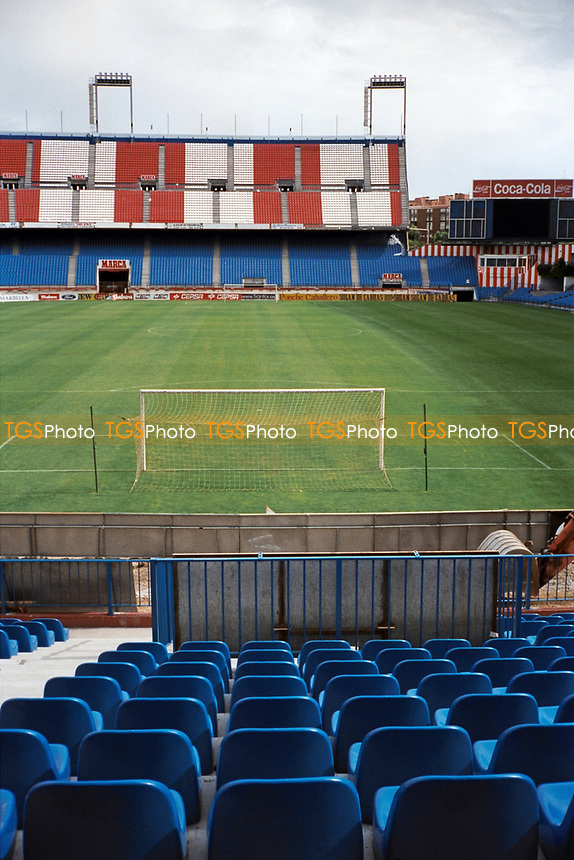 General view of Estadio Vicente Calderon, home of Atletico Madrid FC