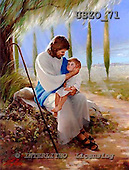 Donald, EASTER RELIGIOUS, paintings, The Blessing, USZO71,#er# Ostern, religiös, Pascua, relgioso, illustrations, pinturas