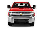Car photography straight front view of a 2018 Chevrolet Silverado 2500HD Work Truck Long Box Double Cab 4 Door Pick Up
