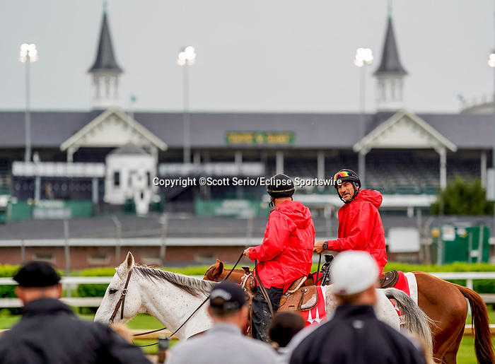April 29, 2021: Scenes from around the track as horses prepare for the Kentucky Derby and Kentucky Oaks at Churchill Downs. Scott Serio/Eclipse Sportswire/CSM