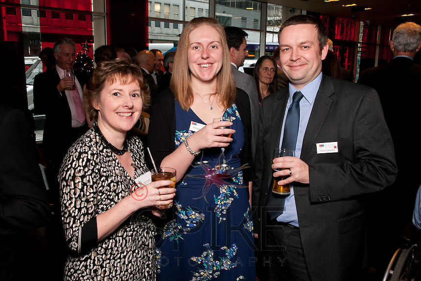 From left are Christine Vickerstaff of The Triity Catholic School, Barbara Sims and Giles Calverley of Mazars