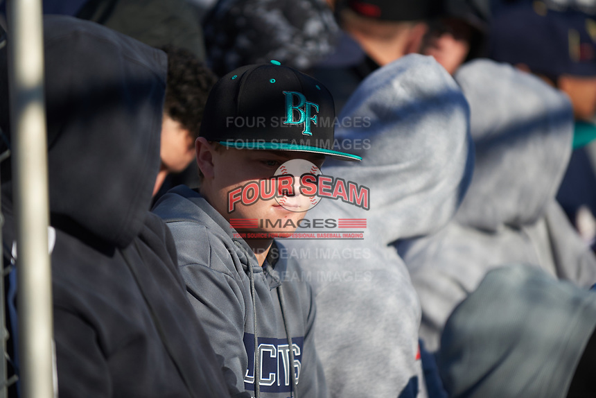 John Combs (14) of Spring City, Tennessee during the Baseball Factory All-America Pre-Season Rookie Tournament, powered by Under Armour, on January 14, 2018 at Lake Myrtle Sports Complex in Auburndale, Florida.  (Michael Johnson/Four Seam Images)