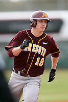 February 22, 2009:  Outfielder Matt Nohelty (19) of the University of Minnesota during the Big East-Big Ten Challenge at Naimoli Complex in St. Petersburg, FL.  Photo by:  Mike Janes/Four Seam Images