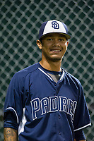 AZL Padres Jose Cabrera (12) during the game against the AZL White Sox on July 31, 2017 at Camelback Ranch in Glendale, Arizona. AZL White Sox defeated the AZL Padres 2-1. (Zachary Lucy/Four Seam Images)