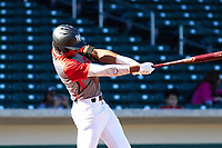 William Rivera (9) of Puerto Rico Baseball Academy in Carolina, Puerto Rico during the Baseball Factory All-America Pre-Season Tournament, powered by Under Armour, on January 13, 2018 at Sloan Park Complex in Mesa, Arizona.  (Freek Bouw/Four Seam Images)