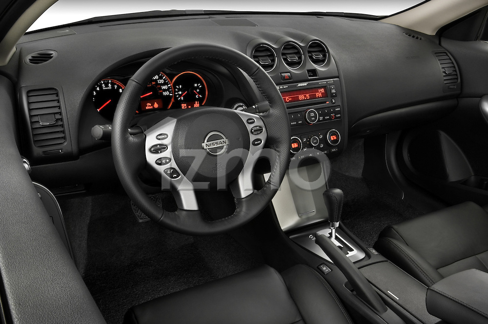 High angle dashboard view of a  2008 Nissan Altma Coupe