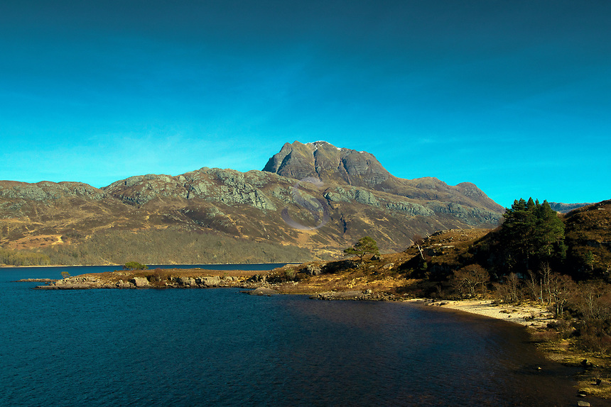 The Munro of Slioch and Loch Maree on the North Coast 500, Wester Ross, Northwest Highlands