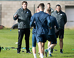 St Johnstone Training…29.09.17<br />Manager Tommy Wright and Assistant Manager Callum Davidson pictured watching training at McDiarmid Park ahead of tomorrow's trip to Aberdeen.<br />Picture by Graeme Hart.<br />Copyright Perthshire Picture Agency<br />Tel: 01738 623350  Mobile: 07990 594431