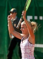 15-8-09, Den Bosch,Nationale Tennis Kampioenschappen, Finale vrouwen,  Richel Hogenkamp juicht, zij wint de NK