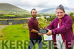 On the edible trail in Cahersiveen with an App in production were l-r; James McCarthy Planting & Landscape Co-Ordinator & Dr. Anita McKeown Artist & Lead Researcher CoDesRes.