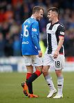 03.11.2018: St Mirren v Rangers: Andy Halliday and Danny Mullen exchanging pleasantries