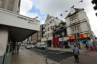 WORDS BY KARL WEST<br />Pictured: A mixture of buildings Friday 30 September 2016<br />Re: The regeneration of the High Street in Swansea, Wales, UK