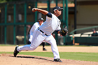 Detroit Tigers pitcher Bruce Rondon (58) during a game vs. the Washington Nationals in an Instructional League game at Joker Marchant Stadium in Lakeland, Florida;  October 1, 2010.   Photo By Mike Janes/Four Seam Images