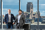 © Joel Goodman - 07973 332324 . 15/09/2017 . Liverpool , UK . Gas Tag founders Paul Durose (dark hair) and Stephen Ullathorne at their Liverpool office . Gas Tag provide software-based safety oversight for landlords and local authorities so people living in rented homes know that their gas appliances are safe and installers can be monitored . Photo credit : Joel Goodman