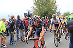 Riders climb the Superga for the 1st ascent during the 99th edition of Milan-Turin 2018, running 200km from Magenta Milan to Superga Basilica Turin, Italy. 10th October 2018.<br /> Picture: Eoin Clarke | Cyclefile<br /> <br /> <br /> All photos usage must carry mandatory copyright credit (© Cyclefile | Eoin Clarke)