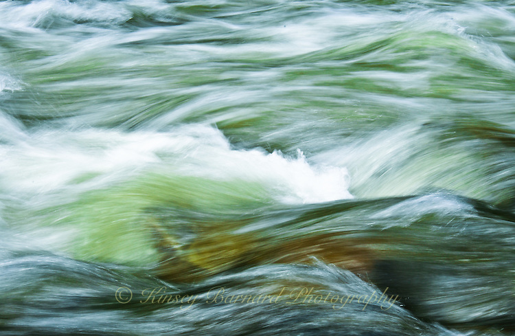 """""""BIG CREEK-2""""<br /> <br /> Waves of Big Creek water rushing over river boulders. 24 x 36 signed, original, gallery wrapped wrapped canvas $2,500. Check for availability"""