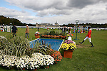 International Jumping in Chantilly France.Before the competition, in front of the Chantilly's castle