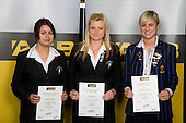 Girls Lawn Bowls finalists Jacqui Whitburn, Toni Edwards & Hannah Robertson. ASB College Sport Young Sportperson of the Year Awards 2008 held at Eden Park, Auckland, on Thursday November 13th, 2008.