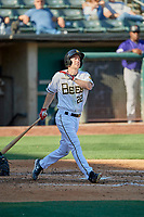 Ty Kelly (22) of the Salt Lake Bees bats against the Albuquerque Isotopes at Smith's Ballpark on April 27, 2019 in Salt Lake City, Utah. The Isotopes defeated the Bees 10-7. This was a makeup game from April 26, 2019 that was cancelled due to rain. (Stephen Smith/Four Seam Images)