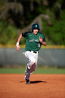 Dartmouth Big Green catcher Bennett McCaskill (18) running the bases during a game against the Northeastern Huskies on March 3, 2018 at North Charlotte Regional Park in Port Charlotte, Florida.  Northeastern defeated Dartmouth 10-8.  (Mike Janes/Four Seam Images)