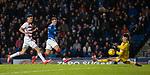 04.03.2020: Rangers v Hamilton: Luke Southwood saves from Florian Kamberi