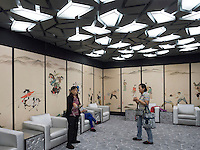 "VIP-Lounge im Nationalstadion Vogelnest im Olympia-Center, Peking, China, Asien<br /> VIP-lounge in National stadium ""Birds nest"" at Olympic Center,  Beijing, China, Asia"
