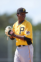 Pittsburgh Pirates pitcher Pedro Vasquez (54) during an Instructional League Intrasquad Black & Gold game on September 28, 2016 at Pirate City in Bradenton, Florida.  (Mike Janes/Four Seam Images)