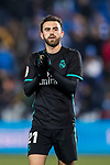 Borja Mayoral Moya of Real Madrid celebrates the team's victory during the Copa del Rey 2017-18 match between CD Leganes and Real Madrid at Estadio Municipal Butarque on 18 January 2018 in Leganes, Spain. Photo by Diego Gonzalez / Power Sport Images