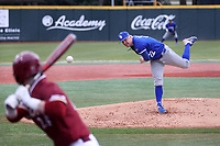 ELON, NC - FEBRUARY 28: Tristan Weaver #22 of Indiana State University throws a pitch during a game between Indiana State and Elon at Walter C. Latham Park on February 28, 2020 in Elon, North Carolina.