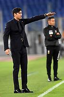 Paulo Fonseca coach of AS Roma reacts during the Serie A football match between AS Roma and Benevento Calcio at Olimpico stadium in Roma (Italy), October 18th, 2020. Photo Antonietta Baldassarre / Insidefoto