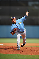 Tampa Bay Rays pitcher Luis Moncada (79) delivers a pitch during a Florida Instructional League game against the Baltimore Orioles on October 1, 2018 at the Charlotte Sports Park in Port Charlotte, Florida.  (Mike Janes/Four Seam Images)