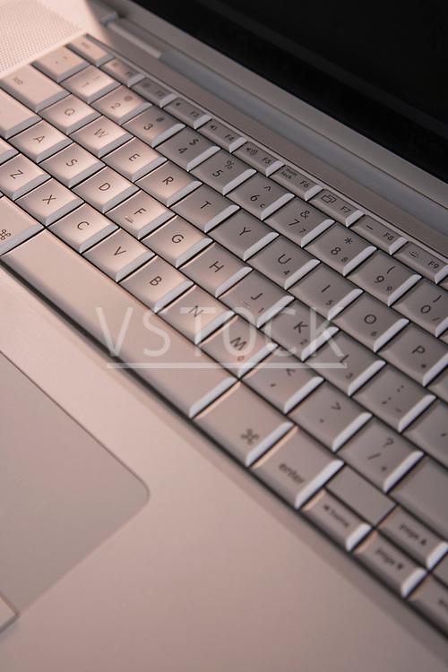 Laptop keyboard, close-up