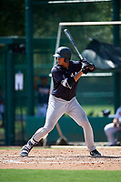 GCL Yankees West right fielder Anthony Garcia (37) at bat during the first game of a doubleheader against the GCL Braves on July 30, 2018 at Champion Stadium in Kissimmee, Florida.  GCL Yankees West defeated GCL Braves 7-5.  (Mike Janes/Four Seam Images)