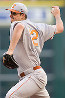 NCAA Baseball featuring the Texas Longhorns against the Missouri Tigers. Workman, Brandon 4172  at the 2010 Astros College Classic in Houston's Minute Maid Park on Sunday, March 7th, 2010. Photo by Andrew Woolley