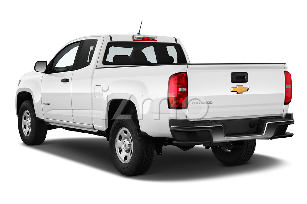 Car pictures of rear three quarter view of a 2019 Chevrolet Colorado WT 4 Door Pick Up angular rear