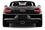 Straight rear view of2015 Porsche Boxster 2 Door Convertible Rear View  stock images