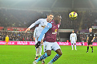 swansea...sport..swansea v aston villa...friday 26th december 2014...<br /> <br /> <br /> Swansea's Angel Rangel in defence