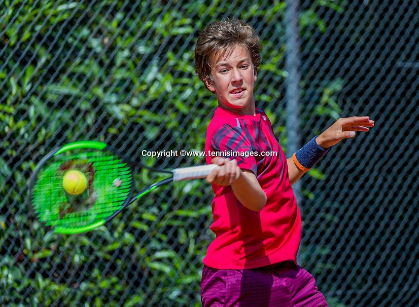 Hilversum, Netherlands, August 7, 2017, National Junior Championships, NJK, Luka Novakovic<br /> Photo: Tennisimages/Henk Koster