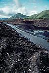 Alaska, Gold mine, Yukon Charley Rivers National Preserve, inholding, surface mine devastates a stream, United States.