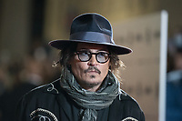 """US actor Johnny Depp arrives to deliver a masterclass at the Auditorium della Conciliazione venue in Rome on October 17, 2021 within the """"Alice nella citta"""" parallel section of the 16th Rome Film Festival. Depp earlier presented the animated TV mini series """"Puffins"""", in which he acts as voice talent.<br /> UPDATE IMAGES PRESS"""