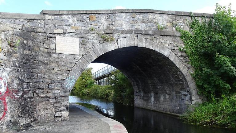 Eureka Killyleagh style….Broom Bridge on the Royal Canal in Dublin, where William Rowan Hamilton inscribed his new theory……