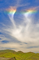 Sun Dog in sky over Hell's Canyon National Recreational Area, Oregon