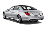 Car pictures of rear three quarter view of 2017 Mercedes Benz S-Class S550 4 Door Sedan Angular Rear