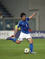 Football: Uefa under 21 Championship 2019, Belgium - Italy, Mapei stadium Reggio Emilia Italy on June 22, 2019. Italy's Sandro Tonali in action during the Uefa under 21 Championship 2019 football match between Belgium and Italy at Mapei stadium Reggio Emilia, Italy on June 22, 2019.<br />
