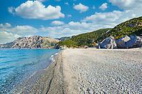 The beach Chiliadou in Evia island, Greece