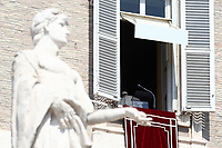 Pope Francis leaves after leading the Sunday Angelus noon prayer from the window of his studio overlooking St.Peter's Square, at the Vatican, Sunday, September13, 2020.<br /> UPDATE IMAGES PRESS/Isabella Bonotto<br /> <br /> STRICTLY ONLY FOR EDITORIAL USE