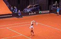 Den Bosch, The Netherlands, April 17, 2021,    Maaspoort, Billie Jean King Cup  Netherlands -  China , Kia<br /> Photo: Tennisimages/Henk Koster